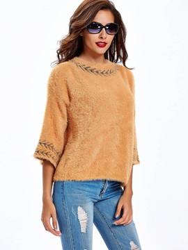 Stylish Multi Color Back Slit Loose Sweater