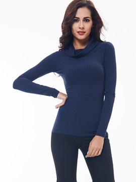 Simple Turtleneck Bottoming Sweater