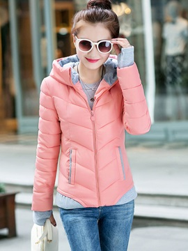 Stylish Multi Color Hooded Short Cotton Overcoat