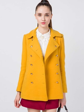 Stylish Double-Breasted Mid-Length Loose Overcoat