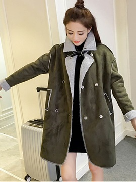 Chic Button Loose Overcoat