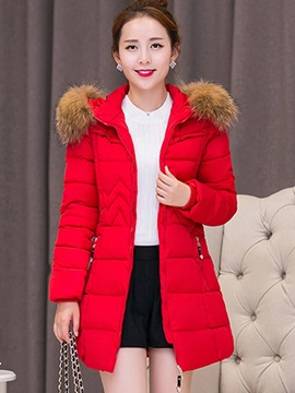 Stylish Wave Pleated Plain Cotton Overcoat