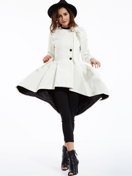 Stylish Plain Asym Knot Overcoat