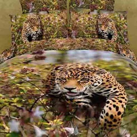 Jaguar Pattern Best Quality 4 Piece 3D Bedding Sets