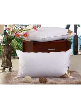 White Combed Cotton Duck Down Pillow