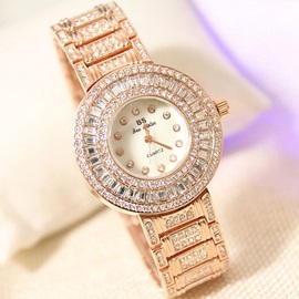 Dazzling Rhinestone Decorated Watch for Women