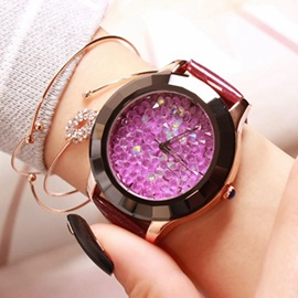 Classic Rhinestones Analog Women Belt Watch