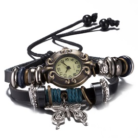 Butterfly Pendant Multilayer Women's Bracelet Watch
