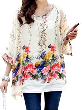 New Floral Printed Loose Blouse