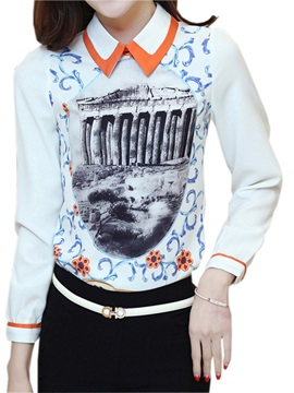 Chic Double-Layer Collar Slim Blouse