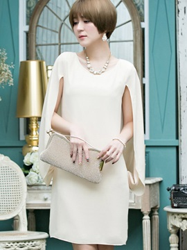 Pure Color Chiffon Short Day Dress