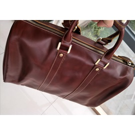 Genuine Leather Overnight Travel Duffle Bags for Men