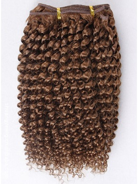 Top Quality Human Hair Weft Curly For Full Head