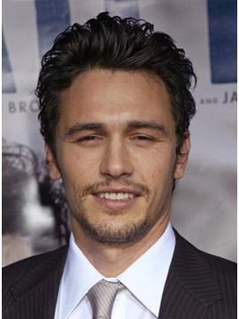 Specially Designed Handsome James Franco Hairstyle Short Wavy Lace Wig 100% Human Hair Wig 5 Inches