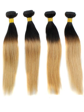Ombre Straight Human Hair Weave 1 PC
