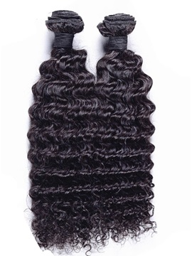 Deep Wave Black Human Hair Weave 1 PC