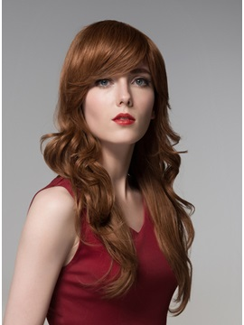 Mishair® Graceful Long Wavy Capless Human Hair Wig 24 Inches