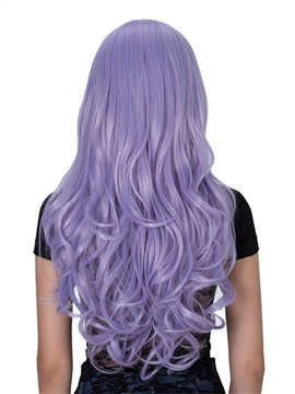 Light Purple Long Wavy Capless Synthetic Hair Wig 26 Inches