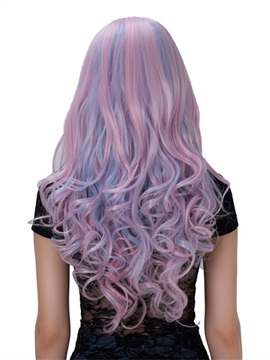 Pink Long Wavy Capless Synthetic Hair Cosplay Wig 26 Inches