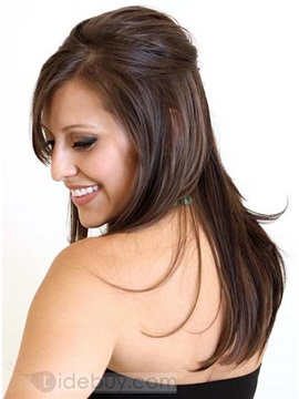Charming 100%Human Hair Silky Straight lace wig about 20 Inches