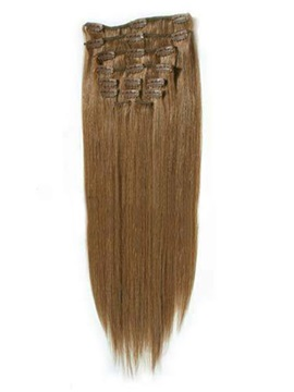 Clip in Straight Hair Extension 100%Human Hair