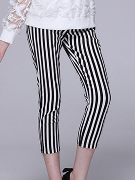 Slim Fit Vertical Striped Summer Casual Pant