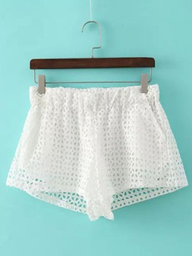 Stylish Hollow Designed Crocheting Shorts