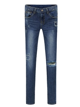 Euramerican Hole Decorated Pencil Jean