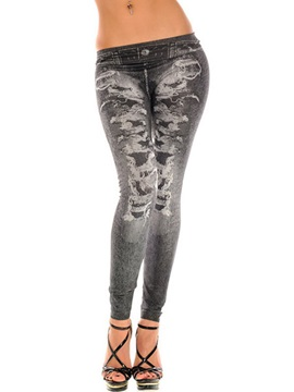 Skinny Polyester Worn Women's Leggings
