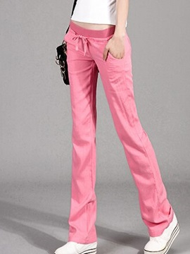 Multi-color Loose Straight Casual Pant