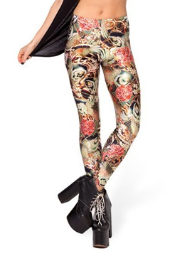 Slimming Multicolor Printing Leggings