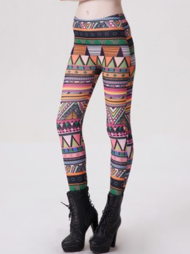Multicolor Printing Skinny-Leg Women's Leggings