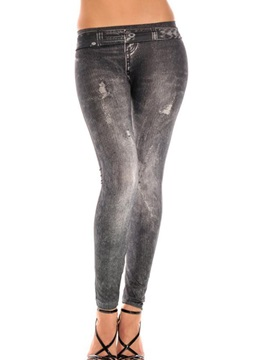 Solid Color Printing Ninth-Length Leggings