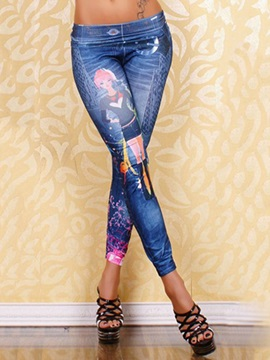 Vogue Printing Skinny Leggings