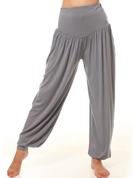 Casual Pleated Ruched-Hem Pant