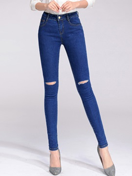 Slimming Hole Designed Curvy-Fit Jean