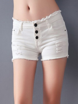 Slimming Three-Button Designed Short
