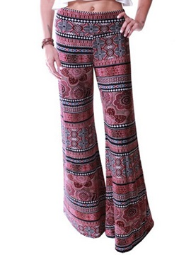 Loose-Fit Printing Waistband Women's Pant