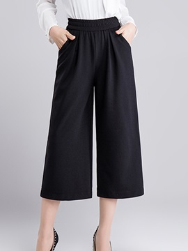Vintage Pleated Wide-Leg Pant