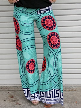 Multicolor Printing Wide-Leg Pant