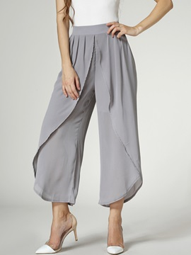 Elegant Loose-Fit Flouncing Pant