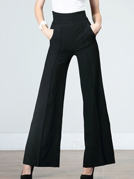Black Palazzo High Waist for Work Formal Pants