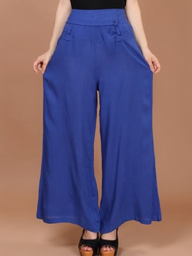 Solid Color Palazzo Pants