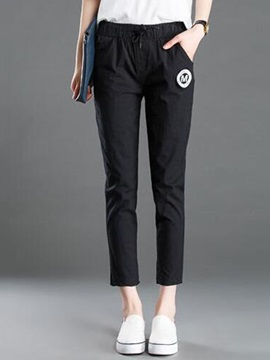 Candy Color Pleated Elastic Casual Pants