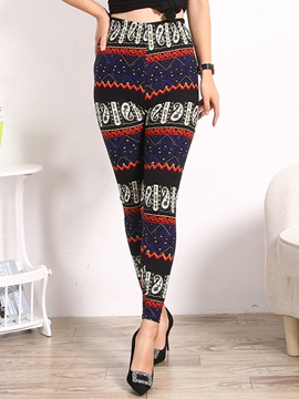 Christmas Snow Printed Warm Leggings