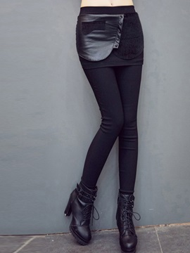 High Waisted Black Women's Leggings (Plus Size Available)