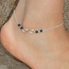 Color Block Alloy Anklet