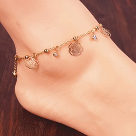 Golden Rhinestone Shaped Anklet