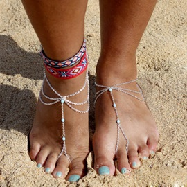 European Style Alloy Women Anklets ( Price for a Pair )