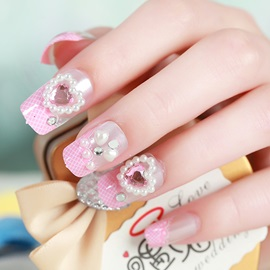 Pearl heart-shaped Nail Art Patch